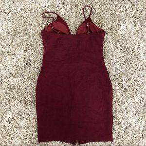 Haute Monde Dresses - Burgundy Bodycon Dress L